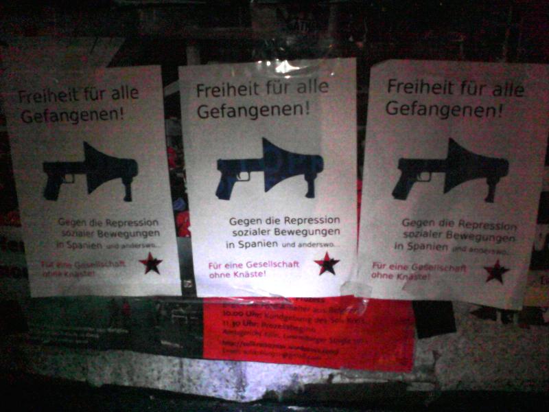 Soli-Plakate in Köln