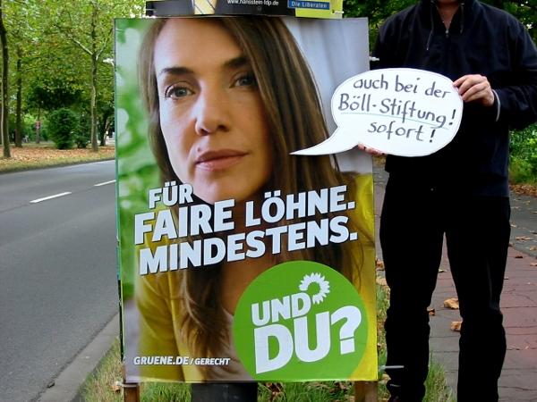 Böll-Stiftung - Wahlkampf