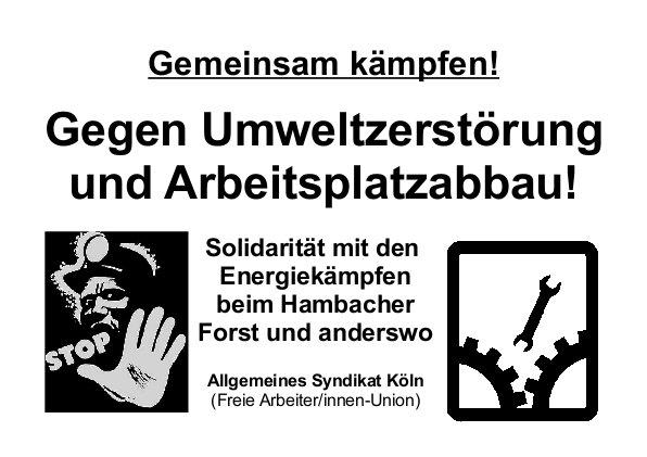 Hambacher Forst Energiekaempfe Solidaritaet