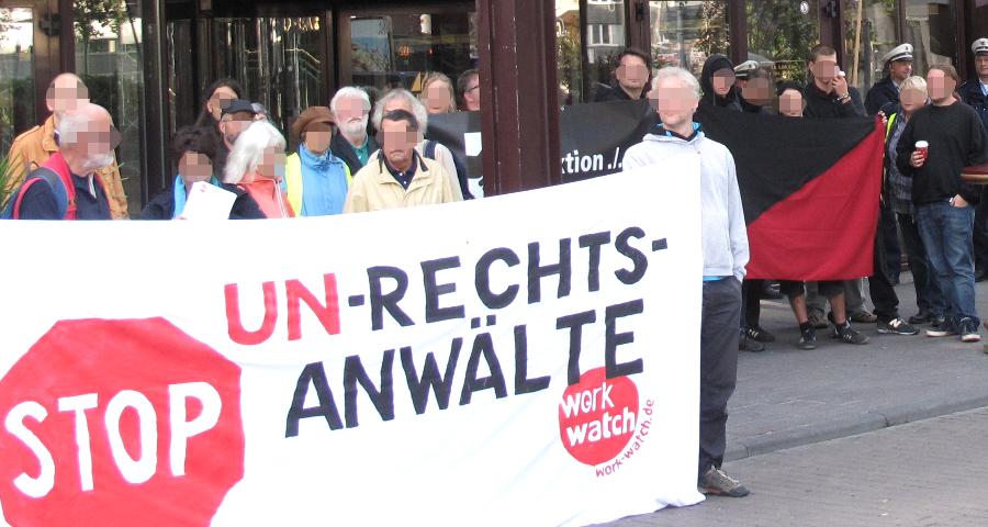 Protest gegen Schreiner-Seminare in Köln (August 2015)
