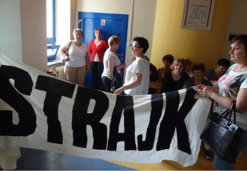 Solidarität mit dem Krankenhaus-Streik in Wyszkow