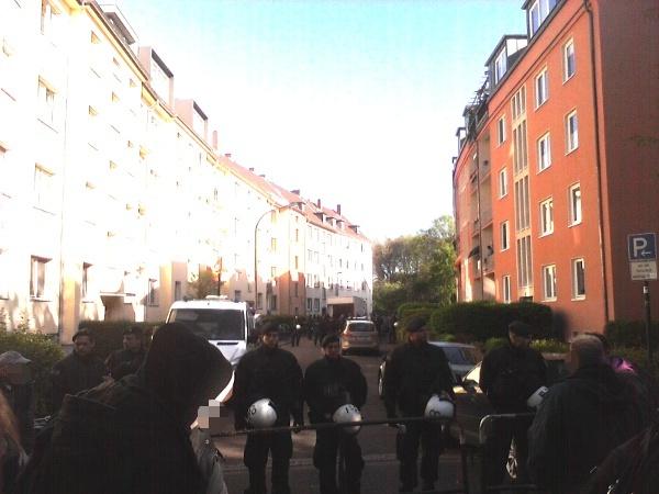 Polizeiabsperrung Fontanestrasse