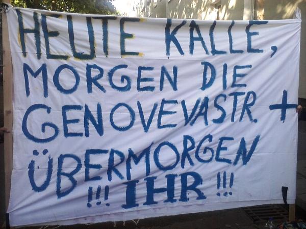"""Transparent: Heute Kalle, morgen die Genovevastr., übermorgen ihr\"""""""