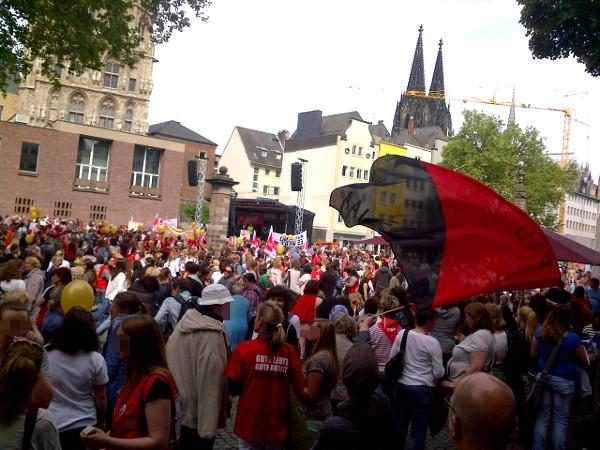 Kundgebung am Alter Markt