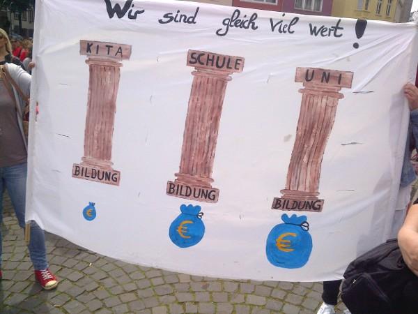 Banner: Wir sind gleich viel wert!