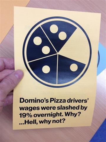 Domono\'s Pizza drivers wage