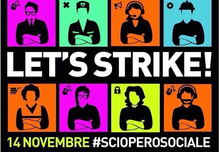 Sozialer Streik #14N 2014 Italien