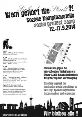 Soziale Kampfbaustelle 2014 Flyer