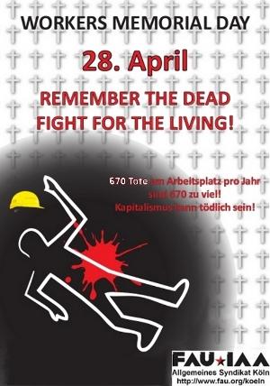 Gedenktag für die Opfer von Arbeitsunfällen und Berufskrankheiten